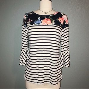 NWT Floral/striped top